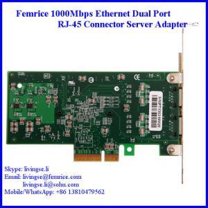 Quality Femrice 1000Mbps RJ-45 Connector Gigabit Ethernet Server Network Card 10002PT wholesale