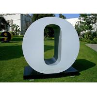Quality Letter O Garden Free Standing Sculpture Large Stainless Steel letter Sculpture wholesale