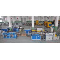 China Single Wall Corrugated Pipe Extrusion Machinery For PP / PE / PVC Pipe on sale
