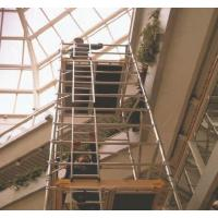 Aluminum tower with ladder frame