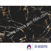Quality High Definition Printing Pvc Decorative Foil Black Marble Moth Proofing wholesale