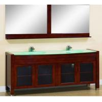 Quality solid wood vanity,solid wood bathroom cabinet,Mirror bathroom cabinet.Double basin cabinet wholesale