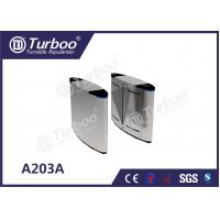 Quality Security Flap Barrier Gate , Optical Barrier Turnstiles For Office Building wholesale