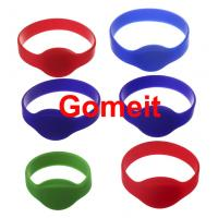 Quality 13.56 Mhz Rfid Silicone Wristband Waterproof , Programmable Smart Access Control Wristbands wholesale