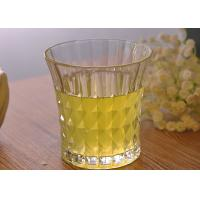Quality 200ml 7oz Clear Embossed water tumbler glass for Soft Drink , Dimond Design wholesale