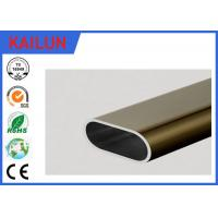 China 6061 Aluminum Oval Tubing , silver / Champagne Anodized Aluminum Structural Tube on sale