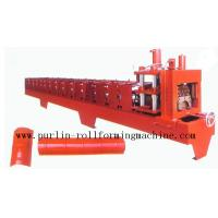 Quality Color Steel Roof Ridge Cap Roll Forming Machine For Theatre / Garden Roofing wholesale