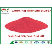 Quality Indigo Clothes Dye C I Vat Red 13 Vat Dyes Red 6B Not Dissolved In Water wholesale