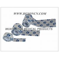 Quality Printed Cohesive Elastic Bandage Paw Prints Vet Wrap  Fix Dressing Cold Hot Packs wholesale