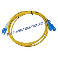 Quality FTTH Fiber Optic Patch Cord Low Insertion Loss LC - SC Duplex wholesale