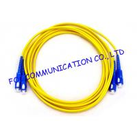 Quality Durable Fiber Optic Patch Cord SC For Telecommunication Networks wholesale