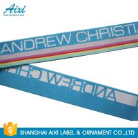 Quality Wide Nylon / Polyester / Cotton Underwear Elastic Band With Custom Logo wholesale