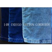 Cheap 14W INDIGO COTTON CORDUROY FOR PANTS LIKE DEMIN FABRIC for sale