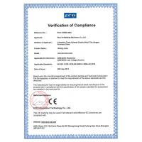 WUXI H-WELDING MACHINERY CO.,LTD Certifications