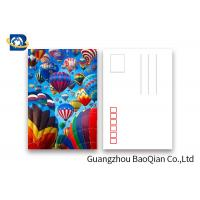 Quality Coloful Hot Air Balloon 3D Lenticular Postcards PET / PP Similar To Holograms wholesale