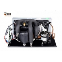 China 12V 24V 48V DC Electric Small Refrigeration Unit Small Cooling System with Stainless Steel Coaxial Heat Exchanger on sale