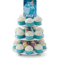 Quality Custom Made Round Cupcake Stand , Lightweight Cardboard Tiered Cake Stand wholesale
