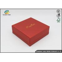 Quality Environmental Red Printing Cardboard Gift Boxes With Hot Stamping Surface Dispoal wholesale