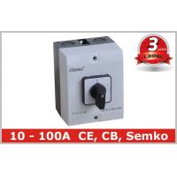 Quality Waterproof Motor Selector Change Over Switch / Rotary Cam Switch with IP65 Box wholesale