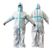Quality Anti Pollution Disposable Protective Suit , Medical White Disposable Suit wholesale