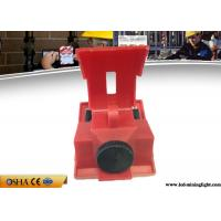 China Red Clamp On Circuit Breaker Lockout For 120V - 277V Circuit Breaker on sale