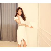 Quality Round Neck Womens Suit Dress Female Short Sleeved party dresses wholesale