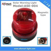 Buy cheap Red Solar Traffic Warning Lights With Magnet Municipal Road Construction magnetic Safety Warning Lighting model ASE-004 from wholesalers