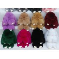 China Luxury Rex Rabbit Fur Keychain Soft Comfortable For Knitted Hats Parts on sale