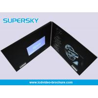 Promotional LCD Video Brochure Free USB Cable Video Booklets With Durable Battery