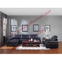 Cheap Italy Leather Sofa with L-Shape in Wooden Sofa Set for sale