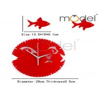 Quality Red Round Decorative Wall Clock wholesale