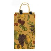 China new product china supplier brown kraft wine bottle paper bag with CMYK printing on sale