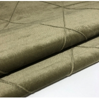 China Hand Sewing Pleated Italian Velvet Upholstery Fabric With Lattice Curtain Pattern on sale
