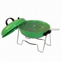 Quality Charcoal Barbecue Grill with 0.7mm Steel Plate Thickness, Measures Ø35.5 cm wholesale