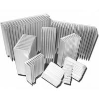 Quality Silvery Anodized Aluminum Heat sink Extrusion Profiles , Aluminum Radiator wholesale