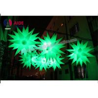 Quality Blow Up Christmas Decorations Inflatable LED Star 1M With Multi Color Lights wholesale