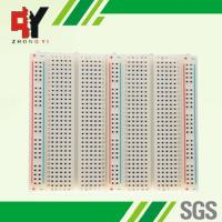 Quality Educational Electronic Circuit Breadboard 3 Distribution Strips With Lines wholesale