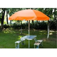 Quality Steel Frame Outside Patio Table Umbrella , Stand Alone Parasol For Garden wholesale