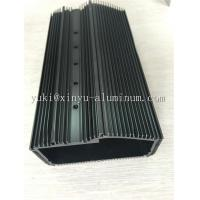 Quality Semi Bright Black Anodized Aluminium Box Aluminum Structural Framing With Tapping And CNC Drilling wholesale