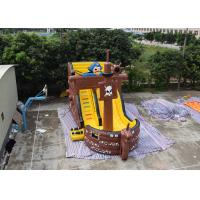 Quality Pirate Ship Design Indoor Blow Up Bouncers , Safety Kids Inflatable Slide wholesale