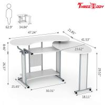 Quality L Shaped Modern Home Office Desk , Simple Small Desktop Computer Desk wholesale