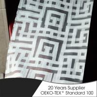 Quality Polyester geometric burn out sheer high quality hotel shower curtain wholesale