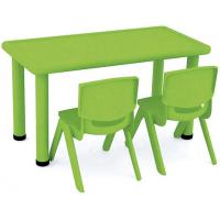 China kids furniture green color table and chairs plastic school desk on sale