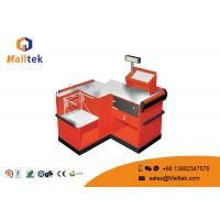 Quality Orange Supermarket Checkout Counter Safety Double Side Eco - Friendly wholesale