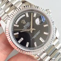 Buy cheap Wholesale 2016 Rolex Day-Date 228239 40mm Automatic 3255 Black Dial Diamonds Marks Fluted Bezel Watch from wholesalers
