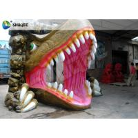 Quality Dinosaur House 5D Movie Theater With Outside Cabin Box , Luxury Electric 9 Seats System wholesale