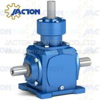 China JT19 Spiral Bevel Gearbox Right Angle 19MM 3/4 Inch Drive Shafts Transmission Ratios 1:1 on sale