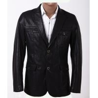 China Black / Dark Red / Yellow, Fashion 100% Viscose and Knitting Mens Leather Blazers on sale