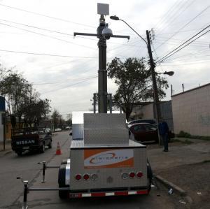 Quality 12m security CCTV pneumatic telescopic masts wholesale