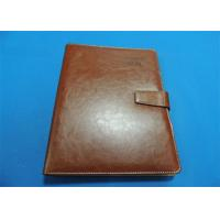 Quality Personalized 1 Color Leather Bound Book Printing A4 B5 With Gloss Lamination wholesale